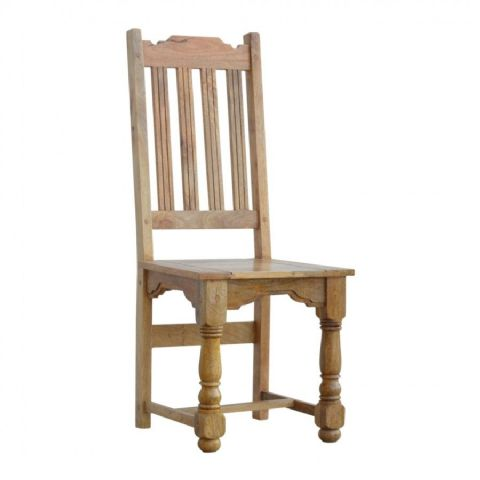 Rustic Oak Finish Chair